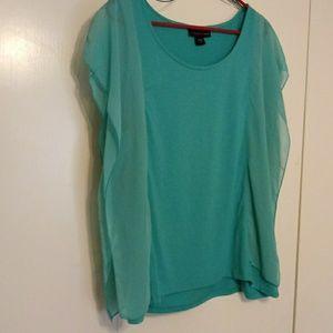 Fun light blouse with cute split shoulder